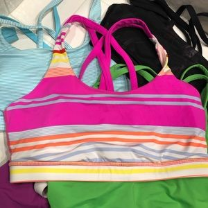 Lululemon multi stripe energy bra size 10